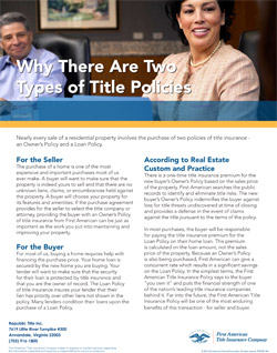 Why There Are Two Types of Title Policies?
