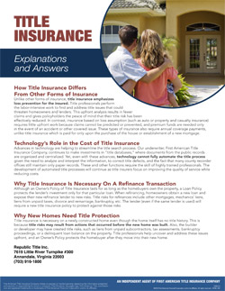 Title Insurance – Explanations and Answers